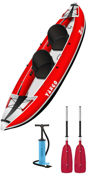 2019 Z-Pro Tango 1 or 2 Man Inflatable Kayak TA200 RED + 2 FREE PADDLES + PUMP