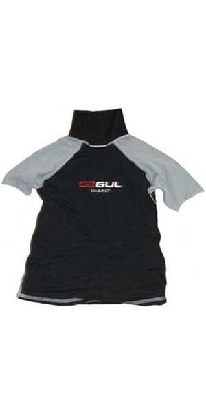 Gul Junior Short sleeved Zulu Rash Vest Black / Grey