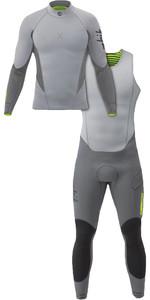 2019 Zhik Superwarm X 3/2mm Neoprene Top & Zhik Superwarm X 3/2mm Skiff Wetsuit Combi-Set Grey