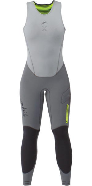 2019 Zhik Womens Superwarm X Skiff 3/2mm Long John Wetsuit GREY SKF1170W