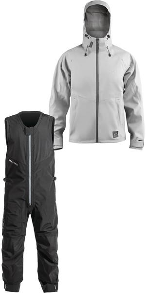 2019 Zhik AroShell Offshore Coastal Jacket JKT0320 & Salopettes SAL301 Combi Set Ash / Black