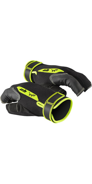 2018 Zhik G2 Half Finger Sailing Gloves Black 0020