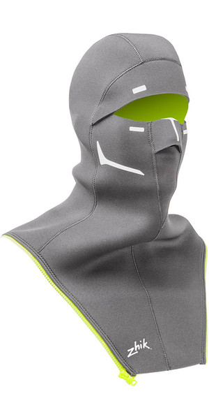 2018 Zhik Isotak X Neoprene Zip On Balaclava Grey BLC1100