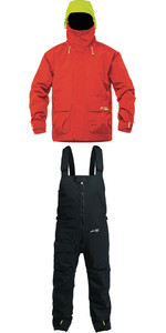 2019 Zhik Kiama X Coastal Jacket J401 & Trouser TR101 Combi Set Red / Black