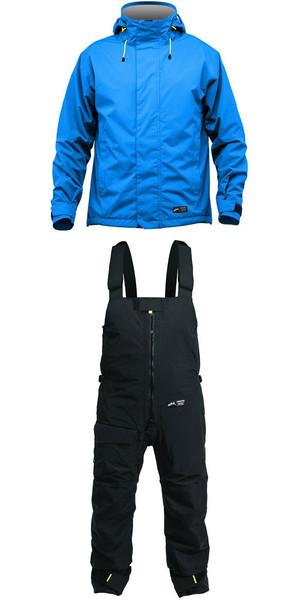 2019 Zhik Kiama Jacket J101 & Trouser TR101 Combi Set Cyan / Black