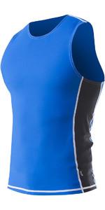 2021 Zhik Mens Spandex UV50 Rash Vest TOP60 - Cyan