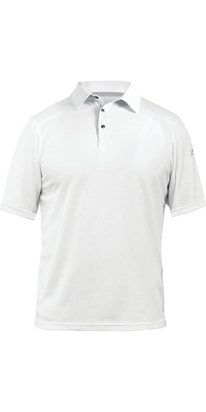 2018 Zhik ZhikDry LT Short Sleeve Polo Top White 0870