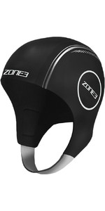 2021 Zone3 Neoprene Swimming Cap NA18UNSC1 - Black / Reflective Silver