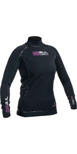 2019 Gul Womens Hydroshield Pro Waterproof Thermal Long Sleeve Top BLACK AC0095-A5