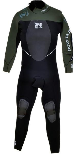 BODYGLOVE Matrix 3/2mm Steamer Wetsuit BLACK / Military Green BG656