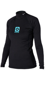 2019 Mystic Womens Long Sleeve Bipoly Thermo Vest BLACK 140085