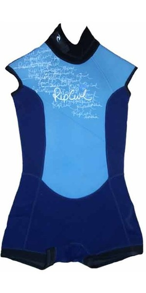 Rip Curl Core Cap Sleeve Shorty Ladies Wetsuit Navy W8370W - 2nd