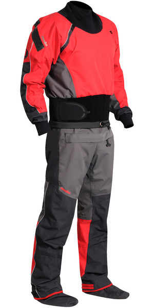 2018 Nookie Charger Canoe / Kayak Drysuit Charcoal Grey /  Red DR10
