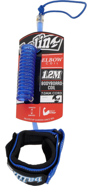 Balin Elbow Coil 1.2M Bodyboard Leash Blue
