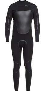 2020 Quiksilver Mens Syncro + 4/3mm Chest Zip Wetsuit EQYW103082 - Black / Jet Black
