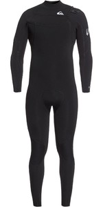 2020 Quiksilver Mens Syncro 3/2mm Chest Zip Wetsuit EQYW103085 - Black / Silver