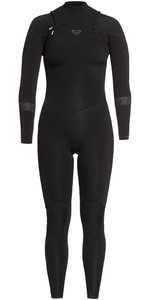 2021 Roxy Womens Syncro 4/3mm Chest Zip Wetsuit ERJW103055 - Black / Jet Black