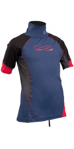 2019 GUL Junior Short Sleeve Rash Vest Blue / Red RG0341-B4