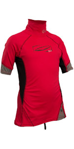 2019 GUL Junior Short Sleeve Rash Vest Red / Black RG0341-B4