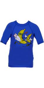 Billabong Go Bananas Short Sleeved Rash Vest in BLUE P4KY10