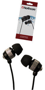 2019 Northcore 'Soundwave' Waterproof Earphones BLACK NOCO181B