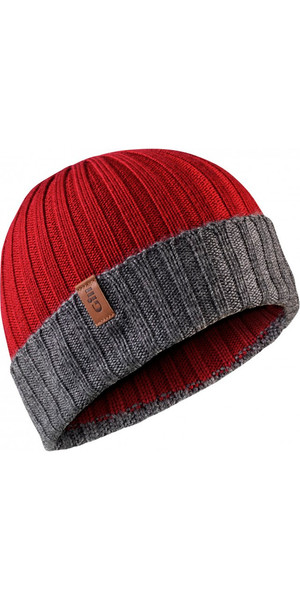 2018 Gill Wide Knit Beanie in Red HT33