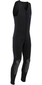 2019 Palm Inferno 5mm Double Lined Neoprene Front Zip Long John Wetsuit BLACK 10479
