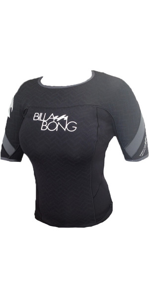 Billabong Ladies Synergy S / S 1mm Neoprene Jacket Black / Ash J41G05