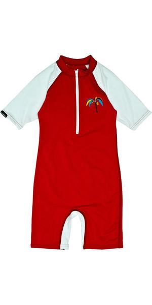 Billabong Jungle Toddler Short Sleeved Sun Suit in Fire Red M4KY11