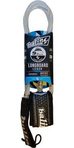 2019 Balin Longboard 7.4mm Double Swivel Leash Clear - 9ft