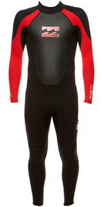 Billabong Junior Intruder 3/2mm Flatlock Wetsuit BLACK / RED S43B04