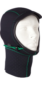 2019 Mystic Merino Wool 1.5mm GBS Neoprene Hood Black / Green 170115