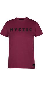 2021 Mystic Womens Brand Tee 210036 - Burgundy