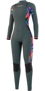 2021 Mystic Womens Dazzled 5/3mm Chest Zip Wetsuit 210078 - Dark Leaf