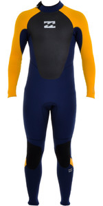 Billabong Junior Intruder 5/4mm Back Zip GBS Wetsuit Blue / Orange O45B10