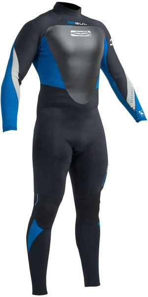 2018 Gul Response 5/3mm Back Zip GBS Wetsuit Black / Blue RE1213-B1