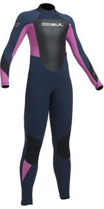2020 Gul Response 5/3mm Junior Back Zip Wetsuit Navy / Pink RE1218-B1