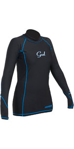 2018 Gul Womens Viper Recore Long Sleeve Thermal Rash Vest - Black RG0359