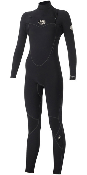 Rip Curl Ladies Flashbomb 3/2mm Chest Zip Wetsuit BLACK WSM5EG