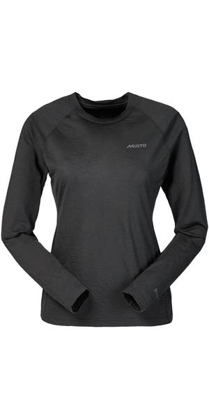 Musto Ladies Evolution Merino Long Sleeved T-Shirt CARBON SE1770