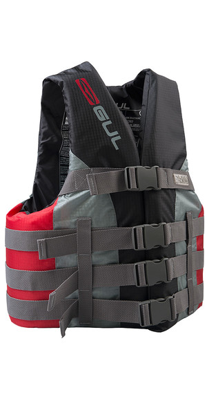 2018 Gul 50N 4 Buckle Impact Vest / Buoyancy Aid Black / Red SK7102-B4