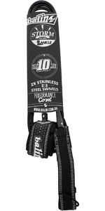 2019 Balin Stormrider 10mm Double Swivel SUP Ankle Leash 10ft Black
