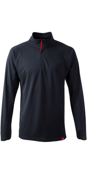 2018 Gill Mens UV Tec Zip Neck Top in Navy UV003