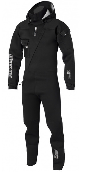 2018 Mystic Vulcanic 4mm Neoprene Front Zip Drysuit BLACK 140005