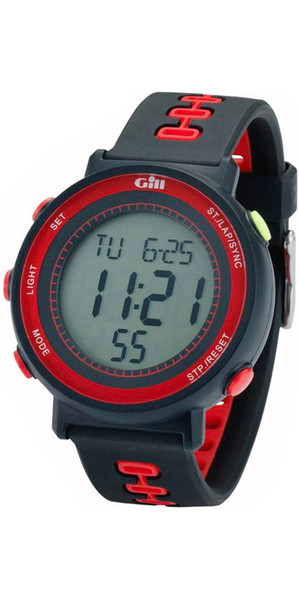 2018 Gill Race Watch Timer Black / Black / Red W013