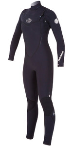 Rip Curl Womens 4/3mm Flashbomb CHEST ZIP Wetsuit in Black WSM4FG
