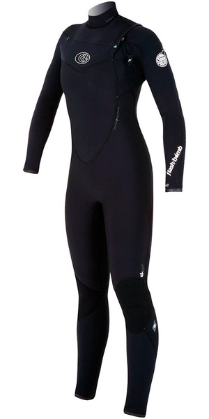 Rip Curl Womens Flashbomb 5/3mm CHEST ZIP WSM4GG Wetsuit BLACK