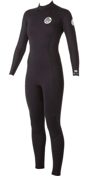 Rip Curl Ladies Dawn Patrol 3/2mm GBS Back Zip Wetsuit BLACK WSM4GW