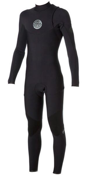 Rip Curl E-Bomb Pro 3/2mm ZIP FREE Wetsuit BLACK WSM4IE