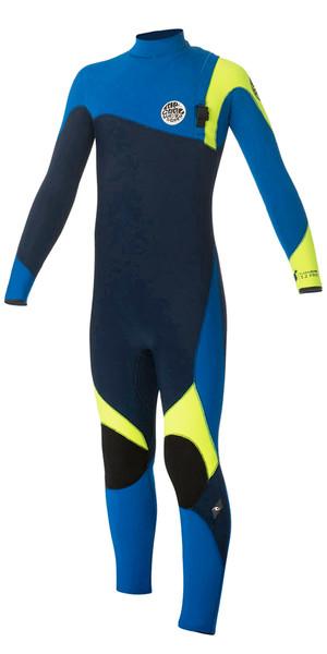 Rip Curl Junior Flash Bomb 3/2mm GBS Zip Free Wetsuit BLUE WSM5OB